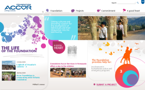 Accor Hotel Group Tucks Their Great Microsite (for the Accor Foundation) Into a Corner of Their Corporate Site... Rather Than Parading Their Philanthropy