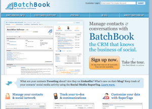 BatchBook CRM solutions for small businesses mix things up a bit with a variety of fonts, font sizes and font colours, replicating what you might see in an average joe's notebook.